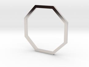 Octagon 16.30mm in Rhodium Plated Brass