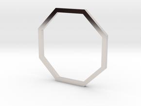 Octagon 16.51mm in Rhodium Plated Brass