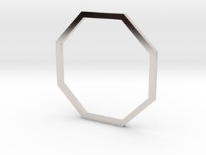 Octagon 18.19mm in Rhodium Plated Brass