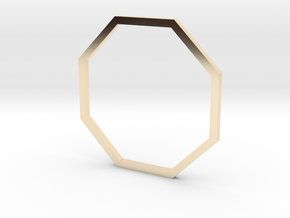 Octagon 18.89mm in 14K Yellow Gold