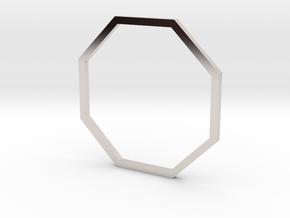 Octagon 19.41mm in Rhodium Plated Brass