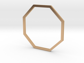Octagon 19.84mm in Polished Bronze