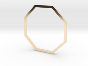 Octagon 19.84mm in 14k Gold Plated Brass