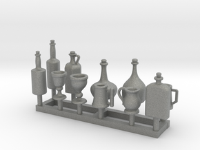 Medieval Style Tankards and Bottles 1/24 scale in Gray PA12