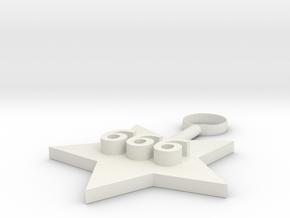 Digital charm in White Natural Versatile Plastic: Medium