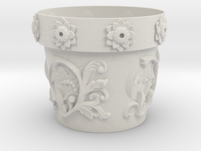 Planter (downloadable) in Matte Full Color Sandstone