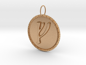 Nordic Fehu Rope Pendant in Natural Bronze