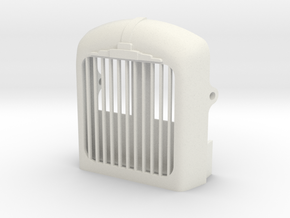 Radiator-fixed-shutter-B61 in White Natural Versatile Plastic