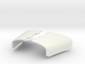 Split-Engine-Cover-B61 in White Natural Versatile Plastic