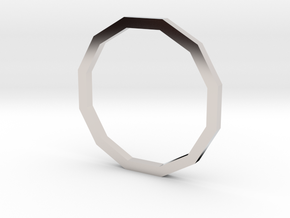 Dodecagon 13.21mm in Rhodium Plated Brass