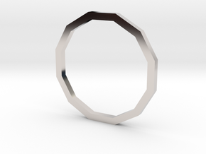 Dodecagon 13.61mm in Rhodium Plated Brass