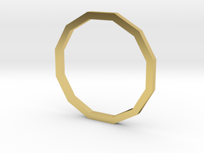 Dodecagon 14.05mm in Polished Brass
