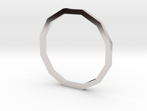 Dodecagon 14.56mm in Rhodium Plated Brass
