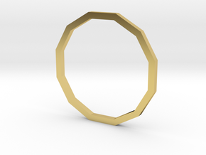 Dodecagon 15.70mm in Polished Brass