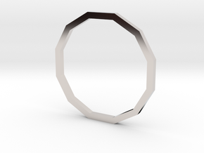 Dodecagon 15.70mm in Rhodium Plated Brass
