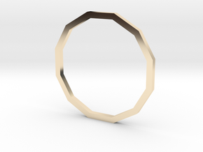 Dodecagon 16.51mm in 14K Yellow Gold