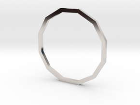 Dodecagon 18.19mm in Rhodium Plated Brass