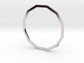 Dodecagon 19.41mm in Rhodium Plated Brass