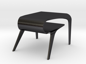 Miniature Cuda Table in Polished and Bronzed Black Steel