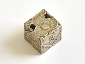 D6 Balanced - Cards (Small) in Polished Bronzed-Silver Steel