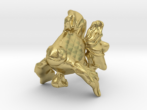 Gold Fish ( Koi ) in Natural Brass