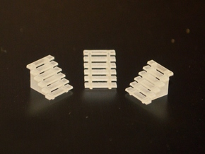 N-Scale 60-Inch Steps - 3 Pack in Smooth Fine Detail Plastic