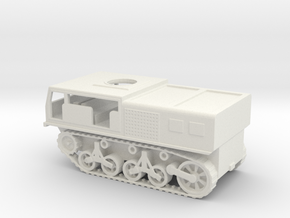 1/72 Scale M4 High Speed Tractor in White Natural Versatile Plastic