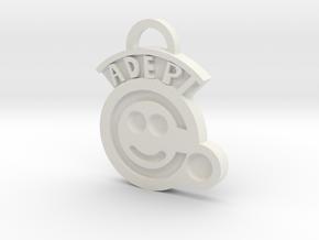 Adeptus Factorum Key Chain in White Natural Versatile Plastic