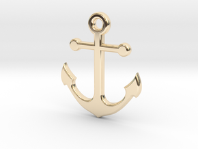 anchor in 14k Gold Plated Brass