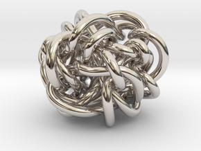 B&G Knot 11 in Rhodium Plated Brass