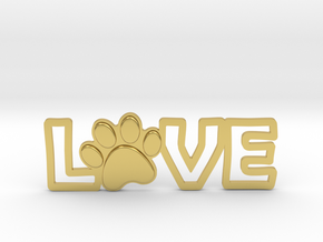 Unconditional Love III Pendant in Polished Brass