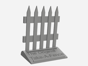 The Original Take-A-Fence: The Deed Restricted in White Natural Versatile Plastic