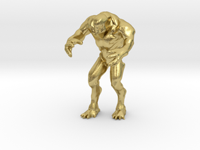 Hell knight - Doom  3 inch in Natural Brass
