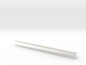 Environmentally friendly chopsticks in White Natural Versatile Plastic