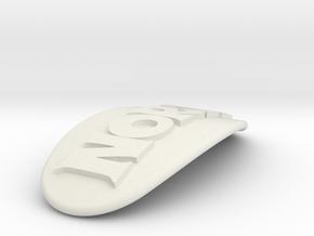 NORA Personalized Oval Hair Barrete 60-76 in White Natural Versatile Plastic