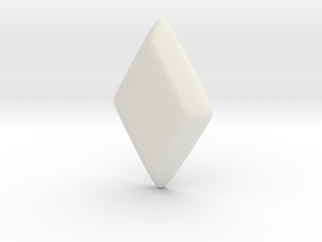 Rhombus Gem (for CLUB scene rhombus ring) in White Natural Versatile Plastic