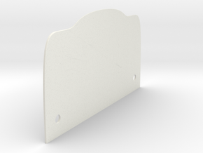 Grill-Backplate-Hole-3mm in White Natural Versatile Plastic