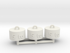 Schuco Piccolo Coles Weigh Set x3 in White Natural Versatile Plastic
