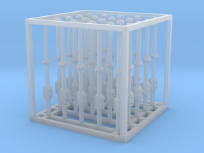 1/48 Olympia Stanchions Type B (long) in Smooth Fine Detail Plastic