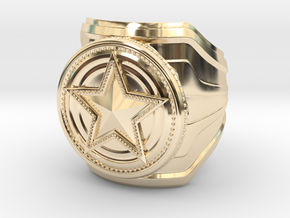 CS:GO Service Medal Ring - wide band in 14K Yellow Gold