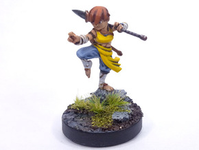 Halfling Monk in Smoothest Fine Detail Plastic