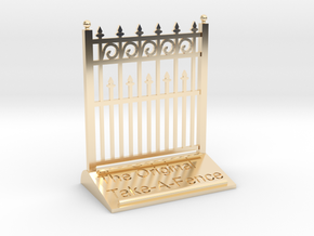 The Original Take-A-Fence: The Higher Than Thou in 14K Yellow Gold