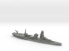 Japanese Ise-class Hybrid Battleship in Gray Professional Plastic