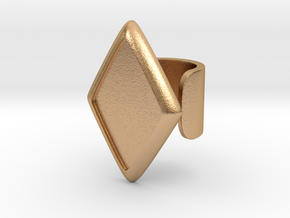 Black Rhombus Cosplay Ring (Club Scene) in Natural Bronze: 1.5 / 40.5