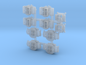 Carb 1/24 sets x 5 in Smooth Fine Detail Plastic