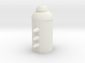 Cactus Flower (CF) in White Natural Versatile Plastic: Medium