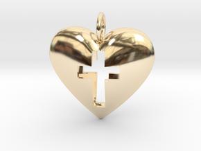 Crossheart2 in 14K Yellow Gold