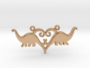 Herbivore dinosaur pendant Diplodocus - precious m in Polished Bronze