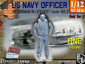 1/12 USN Officer Helmsman 412-2 in White Natural Versatile Plastic