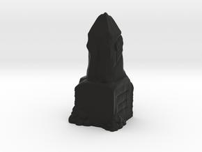 Ancient Dwarven Obelisk (28mm Scale Miniature) in Black Natural Versatile Plastic